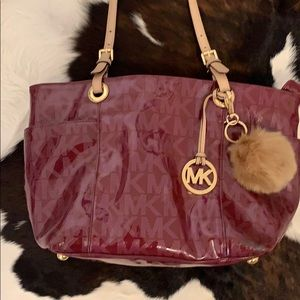 Michael Kors small tote with charm & puffy chain